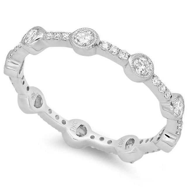 Diamond Bezel Eternity Station Band | Beverley K