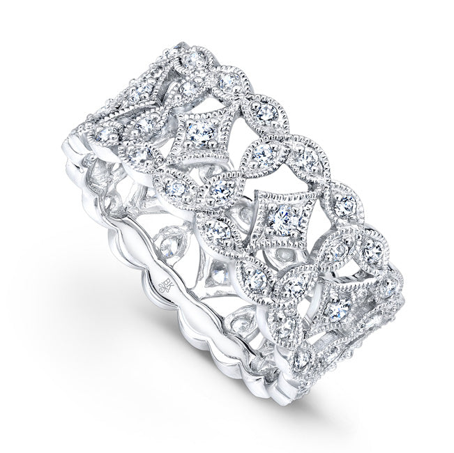 Diamond Design Wide Eternity Band | Beverley K