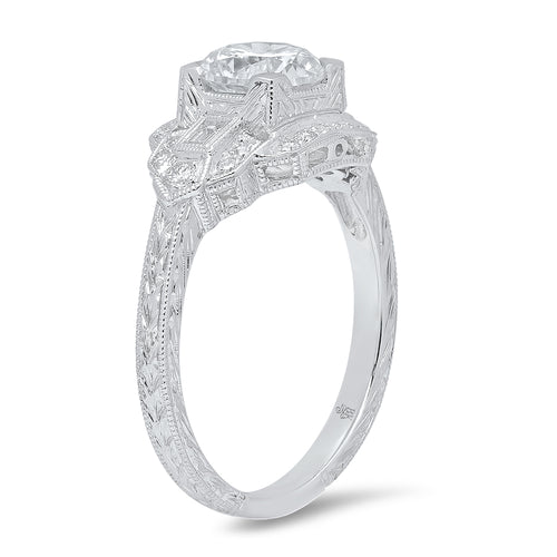 Art Deco Diamond Engagement Ring Setting | Beverley K
