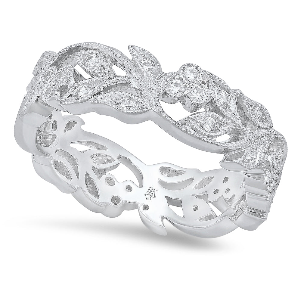 Diamond Floral Eternity Band | Beverley K