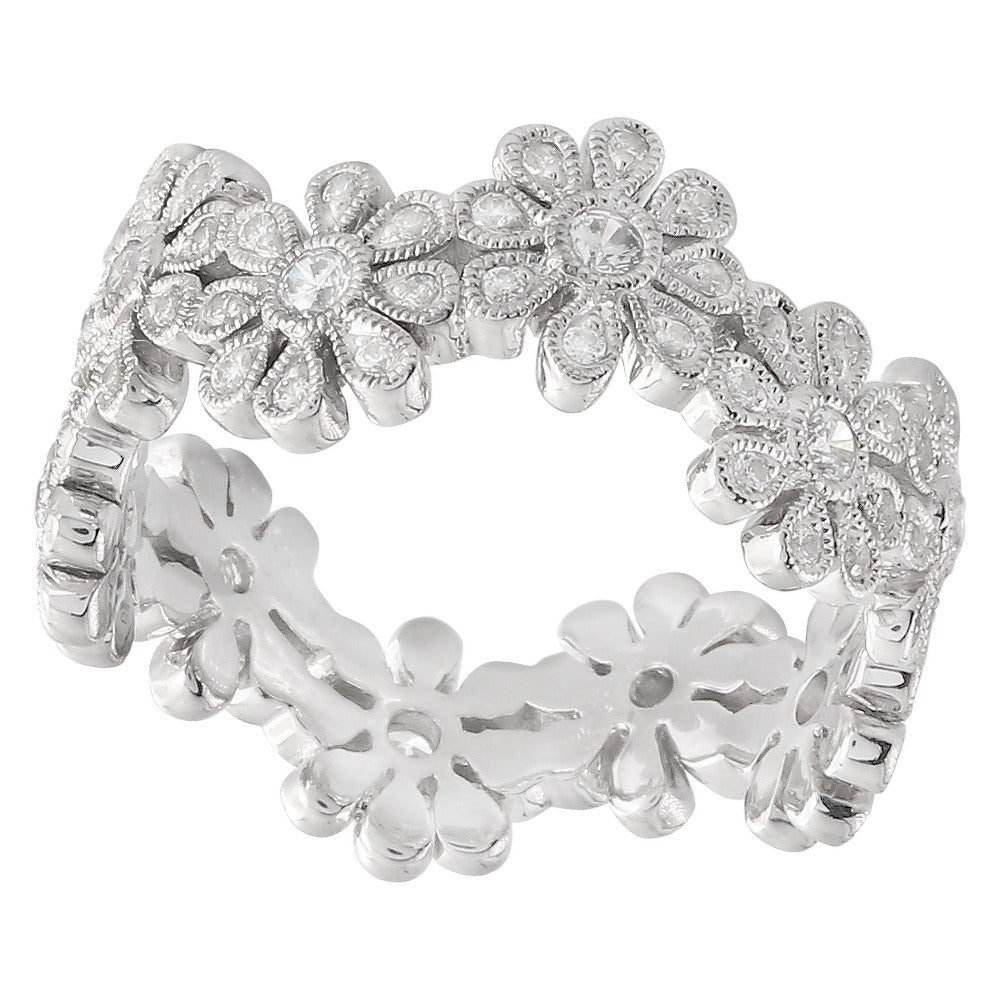 Diamond Flower Wave Band | Beverley K