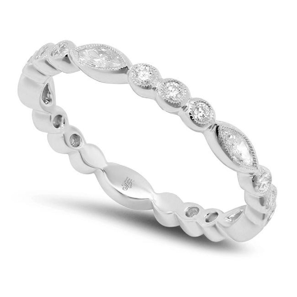 Round and Marquise Diamond Band | Beverley K