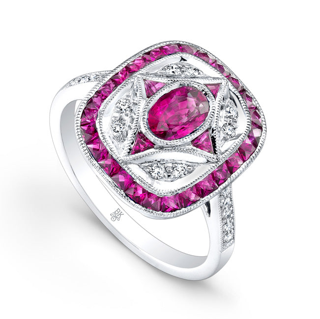 Ruby and Diamond Ring | Beverley K