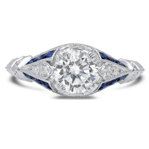 Diamond and Sapphire Engagement Ring Setting | Beverley K