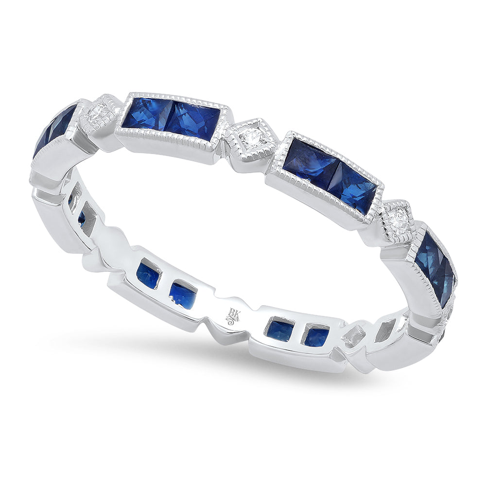Diamond and Sapphire Eternity Band | Beverley K