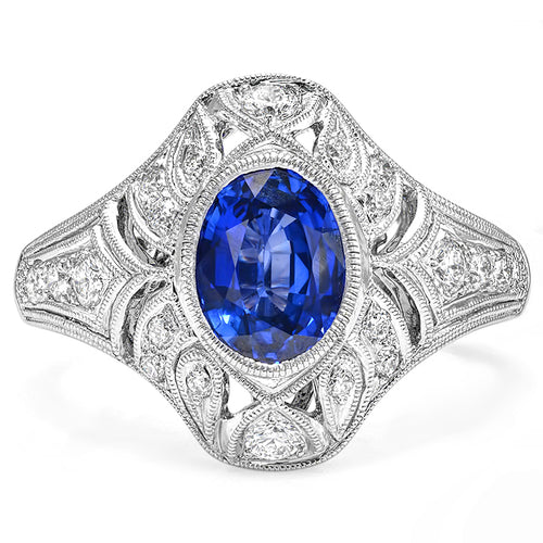 Sapphire and Diamond Ring | Beverley K