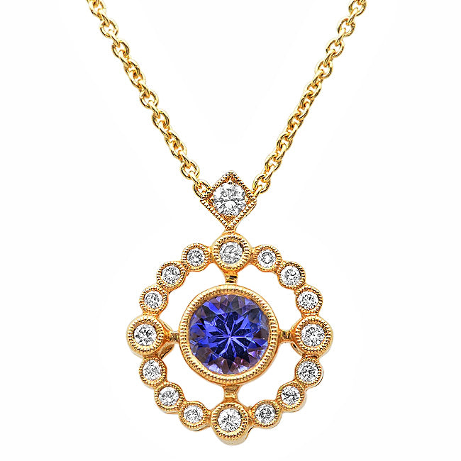 Diamond and Tanzanite Necklace | Beverley K