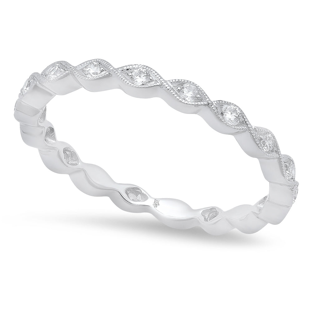 Diamond Wave Eternity Band | Beverley K