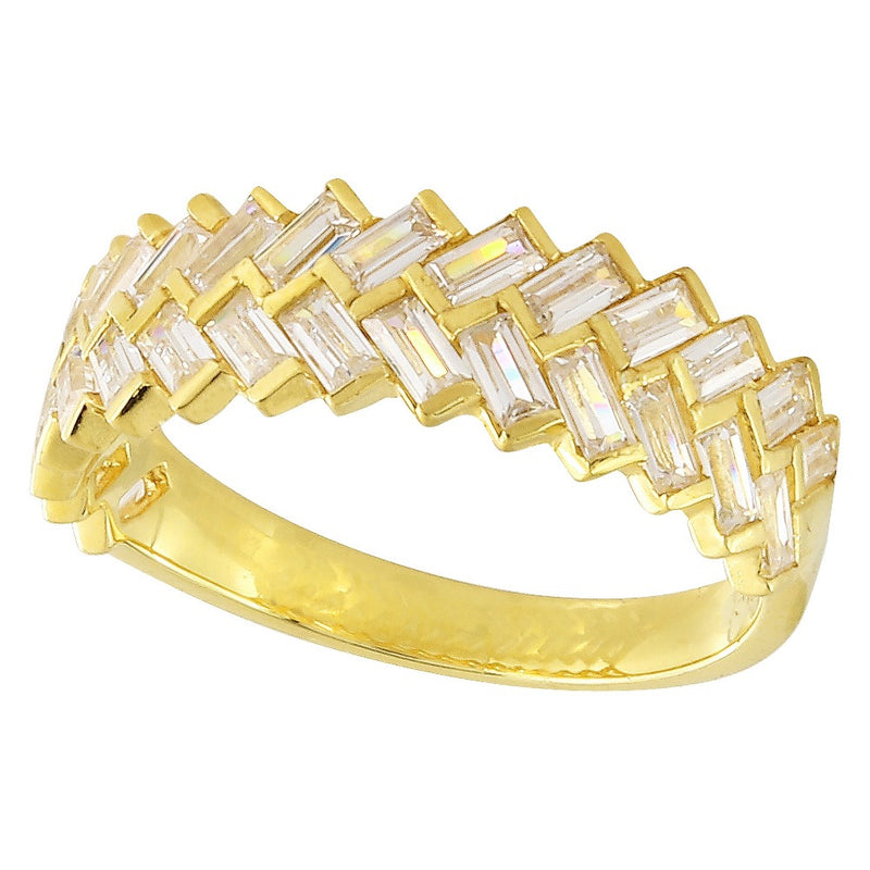 Double Baguette Diamond Band | Beverley K