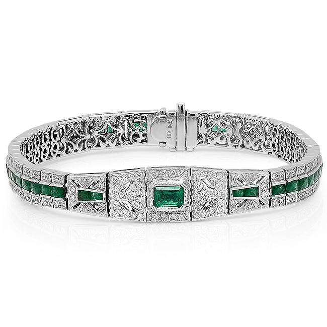 Emerald and Diamond Bracelet | Beverley K