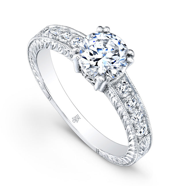 Engagement Ring Setting with Channel Set Diamonds | Beverley K