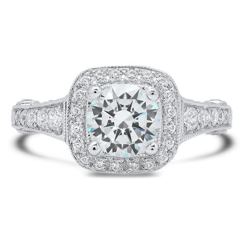 Diamond Halo Engagement Ring Setting | Beverley K