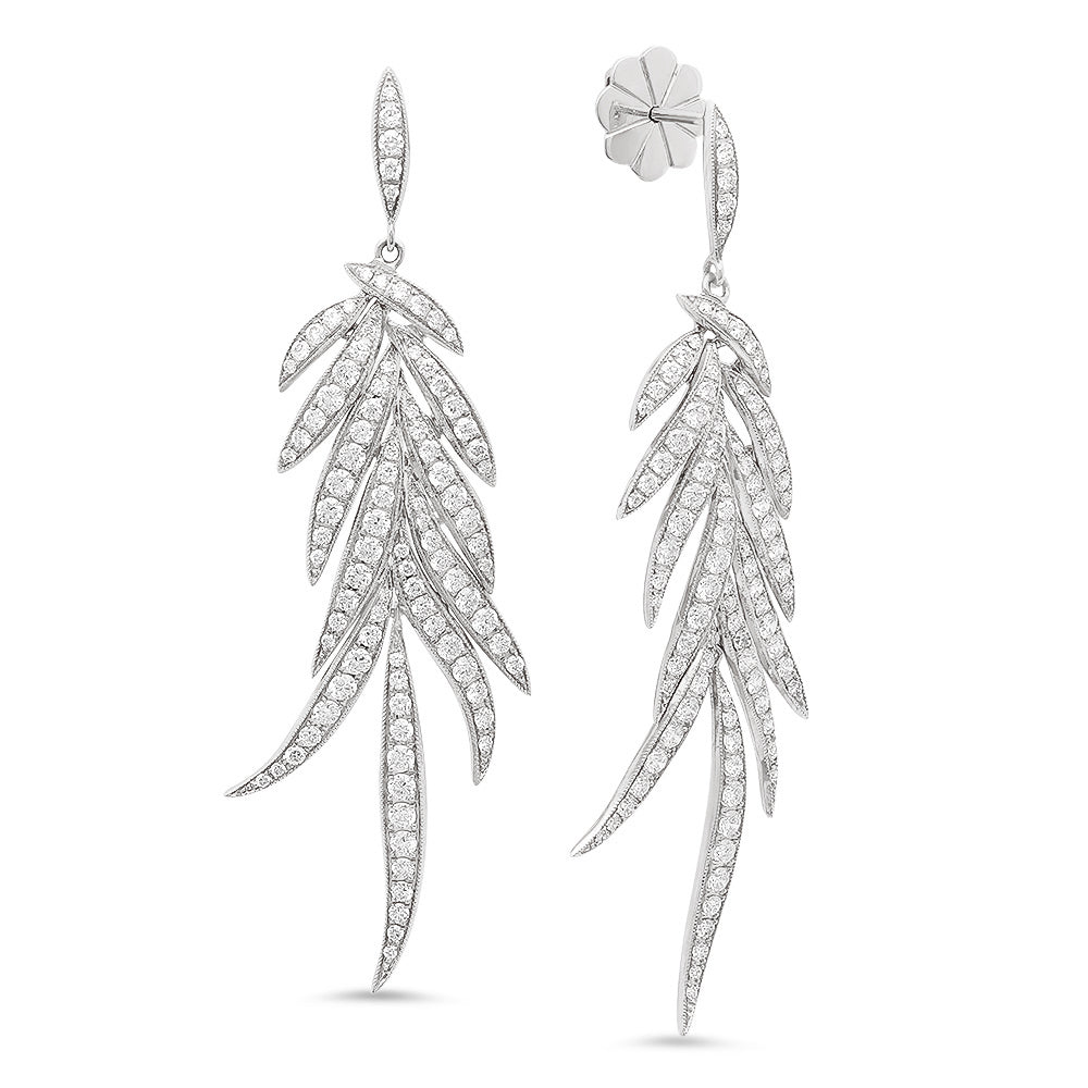 Feather Diamond Earrings | Beverley K