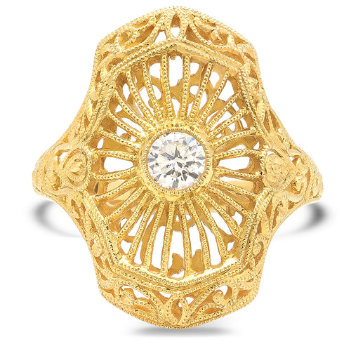 Filigree Diamond Ring | Beverley K