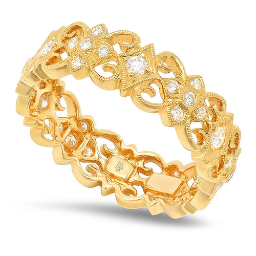 Floral Diamond Eternity Band | Beverley K
