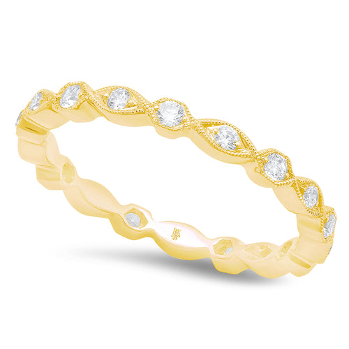 Hexagon and Marquise Shape Diamond Eternity Band | Beverley K
