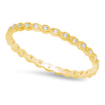Hexagon and Marquise Diamond Thin Eternity Band | Beverley K