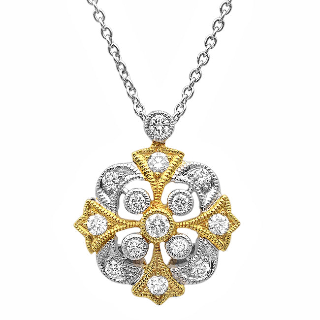 Knight Two-Tone Diamond Necklace | Beverley K