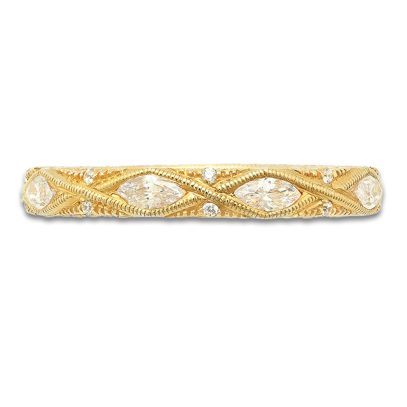Marquise and Pave Diamond Eternity Band | Beverley K