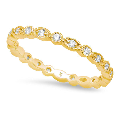 Marquise and Round Diamond Eternity Band | Beverley K