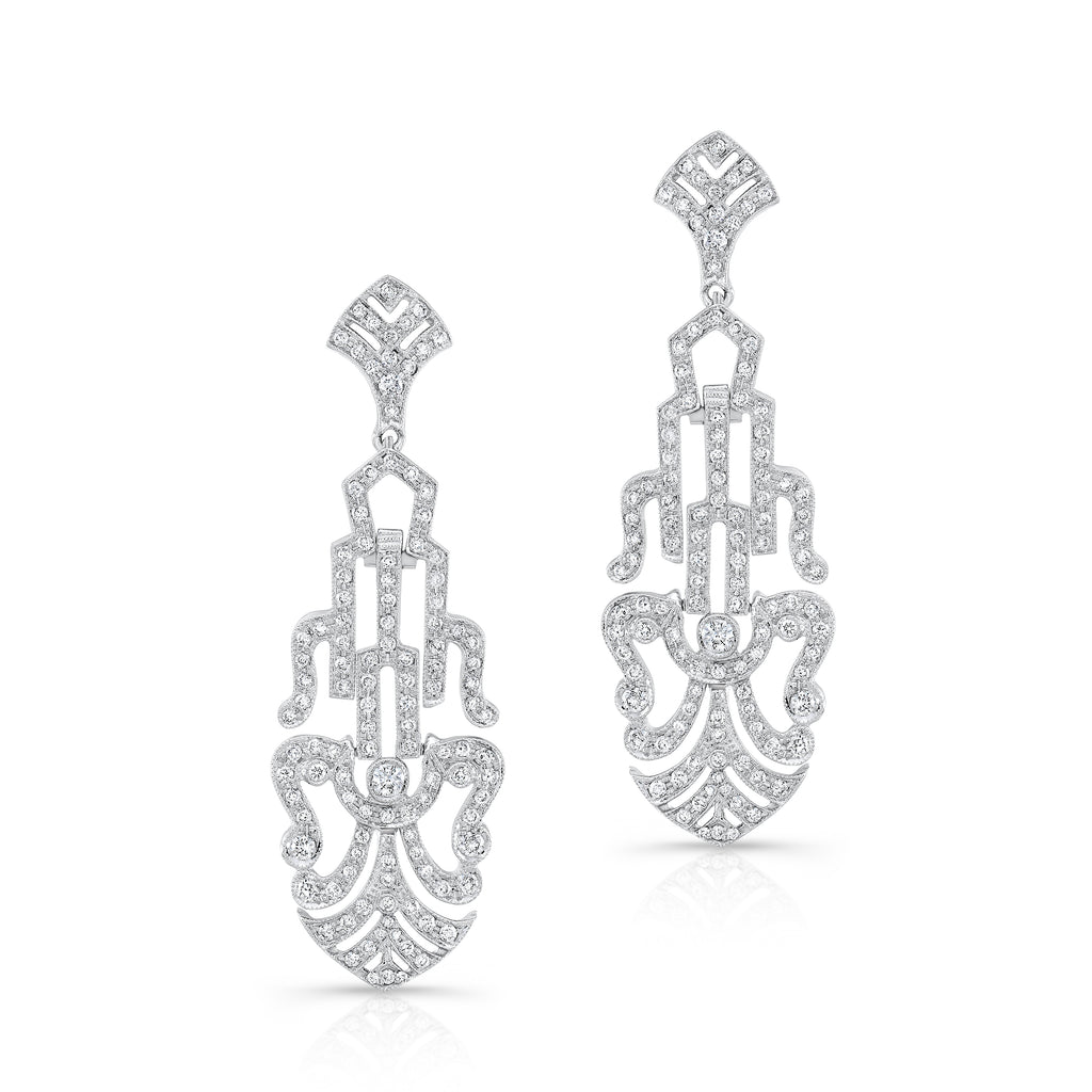 Old Hollywood Diamond Earrings | Beverley K