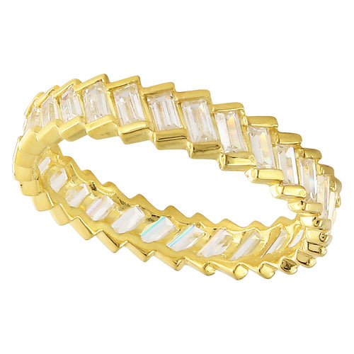 Slanted Baguette Diamond Eternity Band | Beverley K