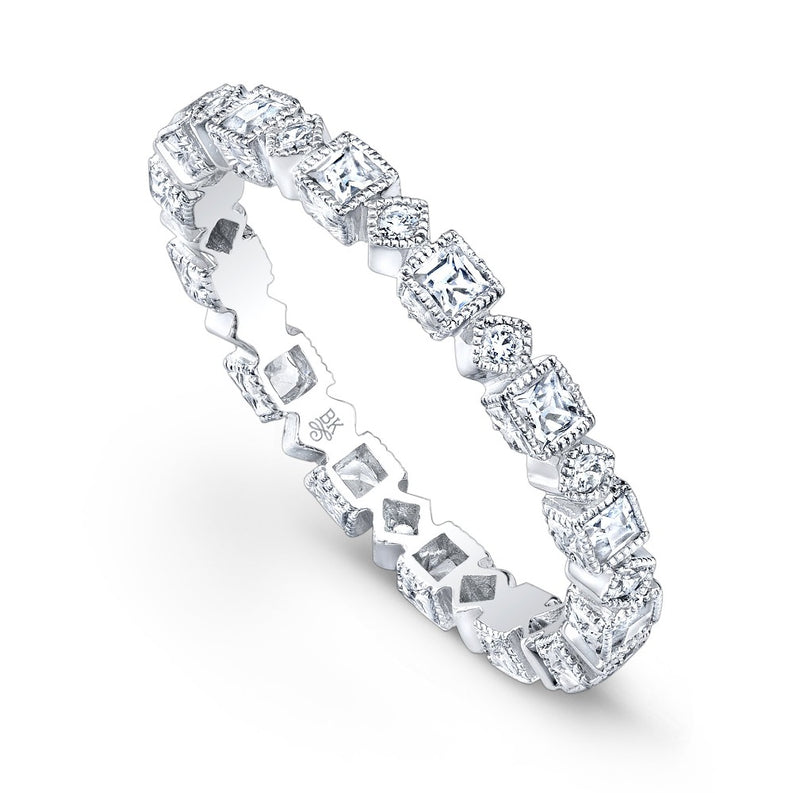 Square and Diamond Shape Eternity Band | Beverley K