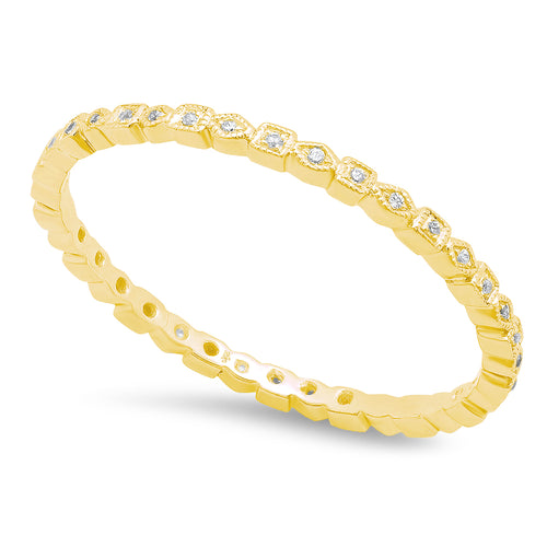 Square and Diamond Shape Thin Eternity Band | Beverley K