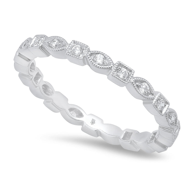 Square and Marquise Shape Diamond Eternity Band | Beverley K