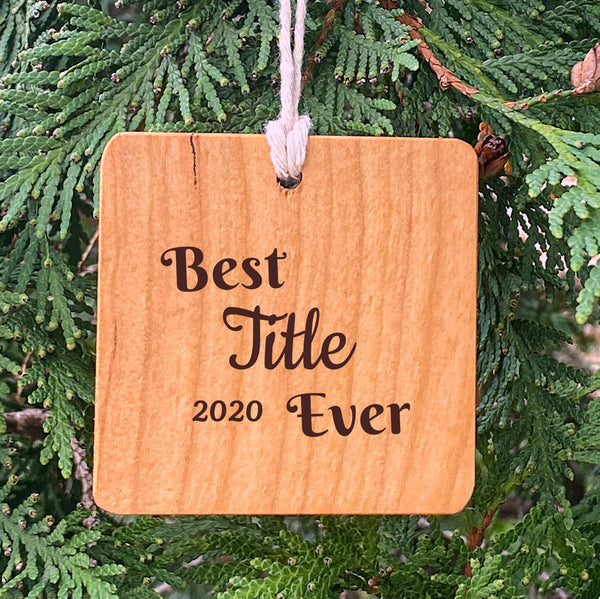 Best Title Ever on Pine Tree Background