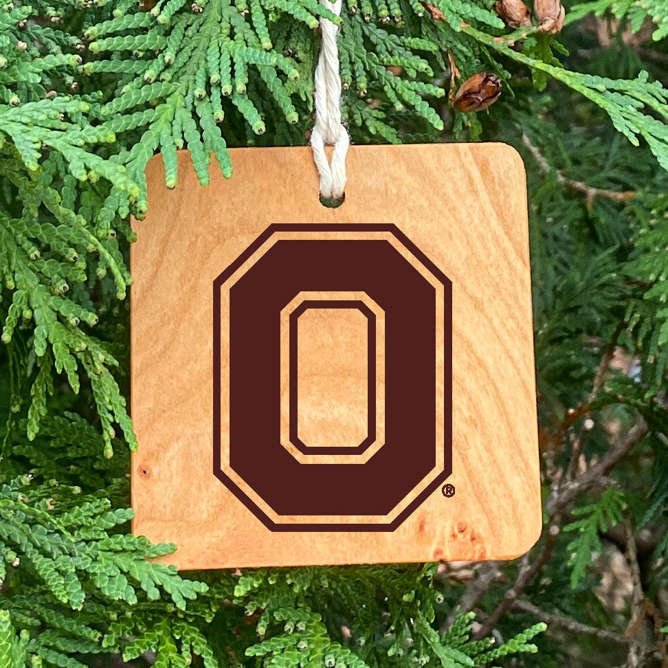 Ohio State Laser Engraved Block O Ornament