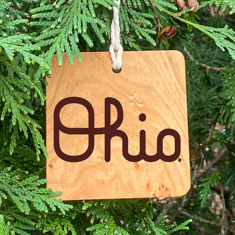 Ohio State Script Ohio Ornament