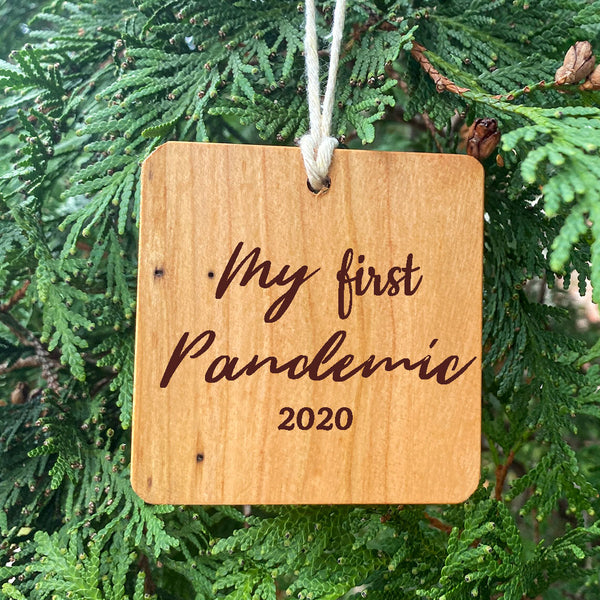 My First Pandemic 2020 Ornament on pine tree