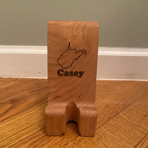 Phone Stand, Solid Cherry, Personalized
