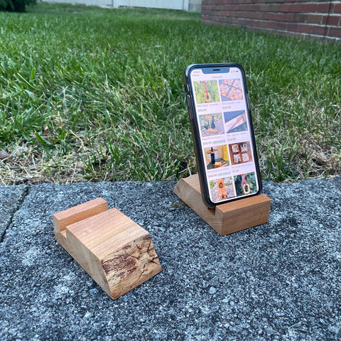 Phone Stand - Cherry - Live Edge