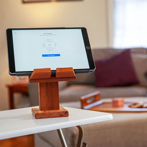 Adjustable Wood Tablet Stand Wooden Hinge