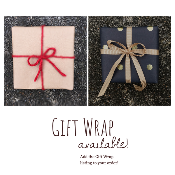 Gift wrap available by fallen tree woodshop