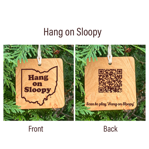 Ohio State Hang on Sloopy Song Ornament