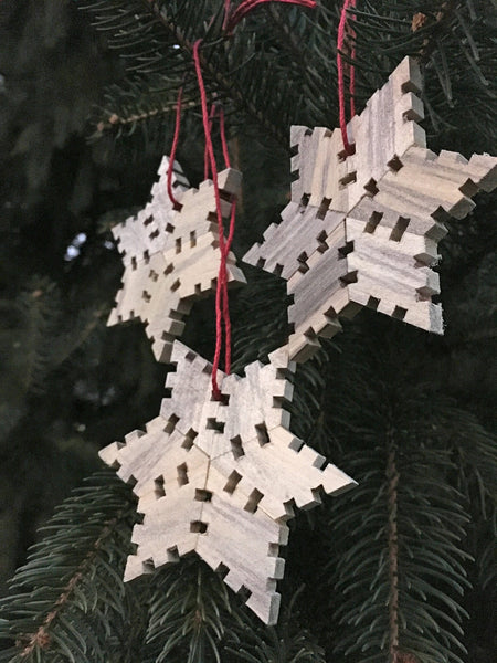 Snowflake Wood Ornament - Basswood, Limited Edition