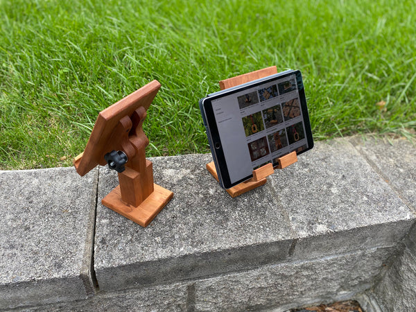 Adjustable Wood Tablet Stand - Personalized