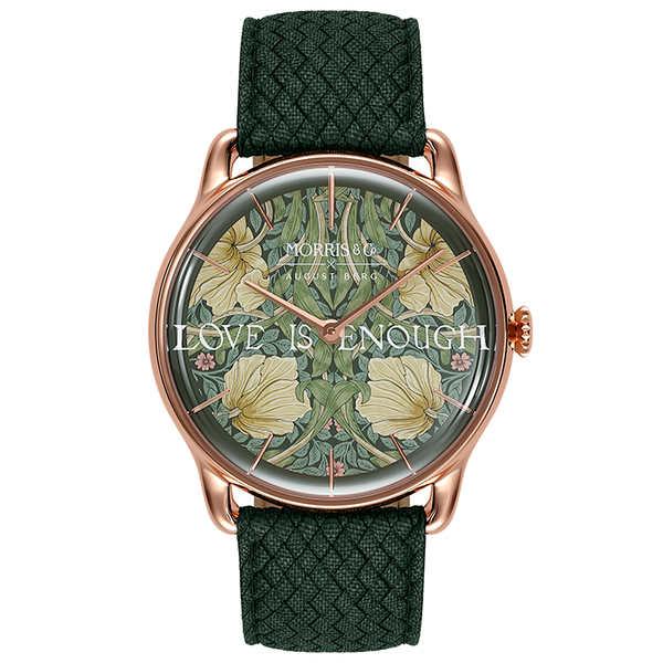 Morris & Co. Fennel Rosaguld Pimpernel | Grøn Perlon-Watches-August Berg Denmark