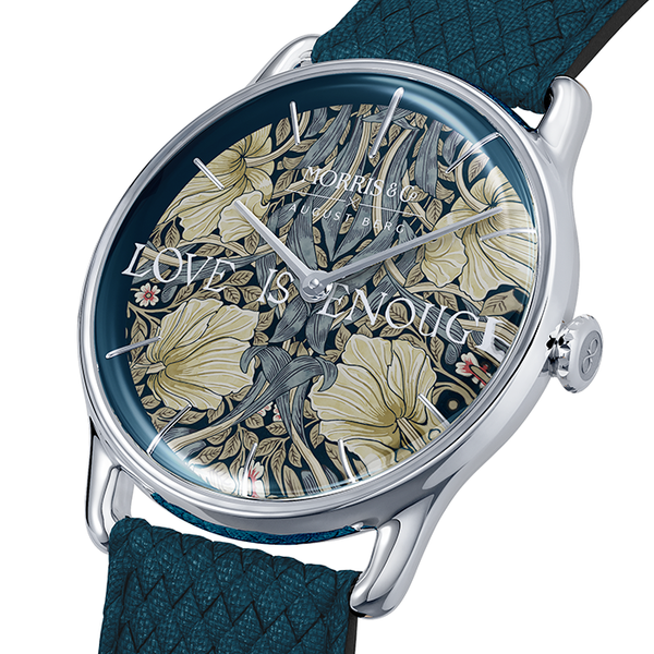 Morris & Co. Indigo Sølv Pimpernel | Indigo Perlon-Watches-August Berg Denmark