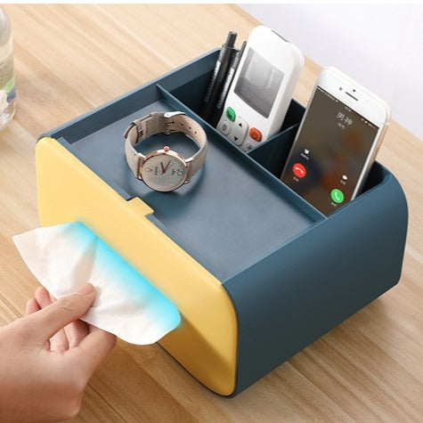 Desktop Tissue Dispenser & Organizer