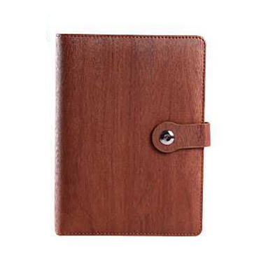 A5 Eco design notebook with card slot