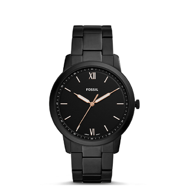 Fossil The Minimalist Three-hand Black Stainless Steel Watch