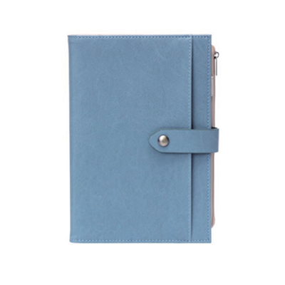 A5 Notebook with PU Cover with Zip Pocket