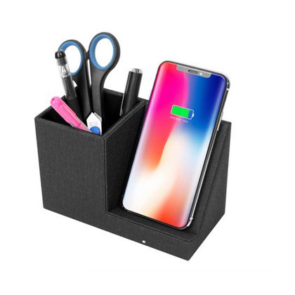 Desktop Organizer with Wireless Charging Station