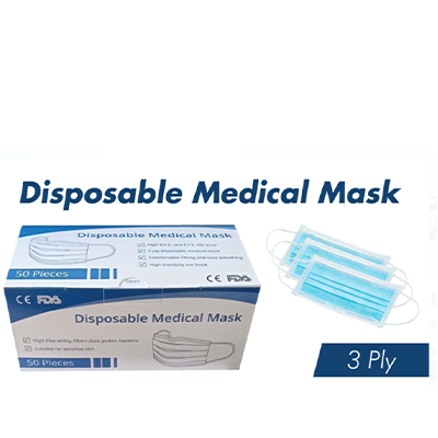 Disposible Medical Mask -2 Boxes