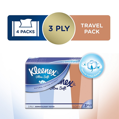 Kleenex Ultra Soft Lifestyle Soft Pack, 12x50s