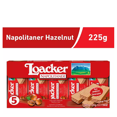 Loacker Napolitaner Hazelnut Wafer Pack